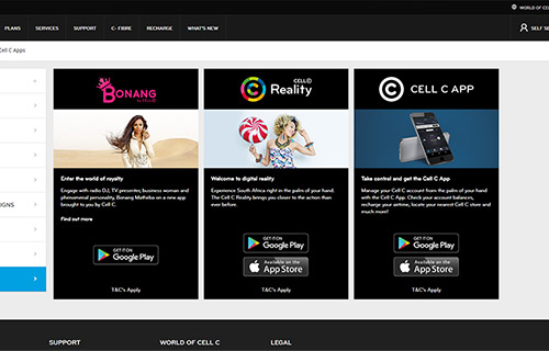 Cell C Apps