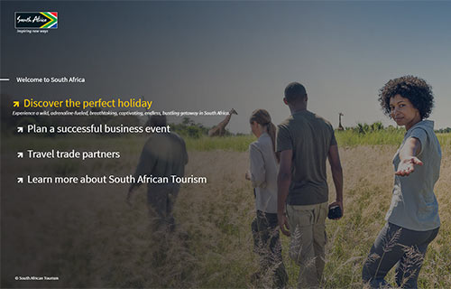 South African Tourism Home Page