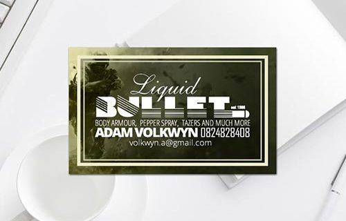 Liquid Bullet Business Card