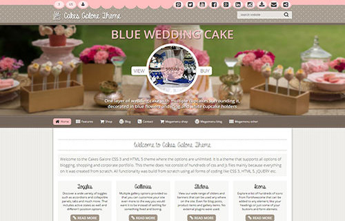 Cakes Galore Theme